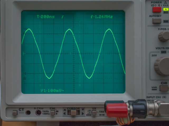 assembly with the oscilloscope to measure inductances ...